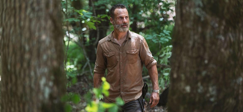 """Rick (Andrew Lincoln) em cena da nona temporada de """"The Walking Dead"""" - Divulgação"""