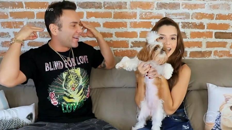 """Giovanna Lancellotti em entrevista a Matheus Mazzafera no """"Vídeo Show"""" - Reprodução"""