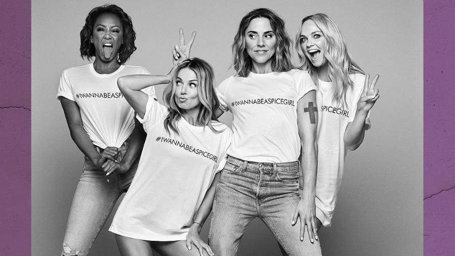 Mel B, Geri, Mel C e Emma se uniram à ONG Comic Relief - Reprodução/Instagram/@comicrelief
