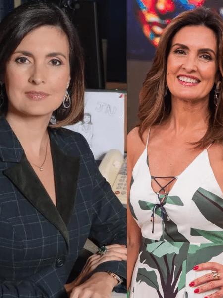 Fátima Bernardes em 2009 e em 2019 - Reprodução/Instagram