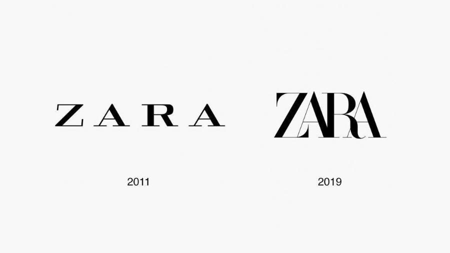Novo logo da Zara divide opiniões - Reprodução