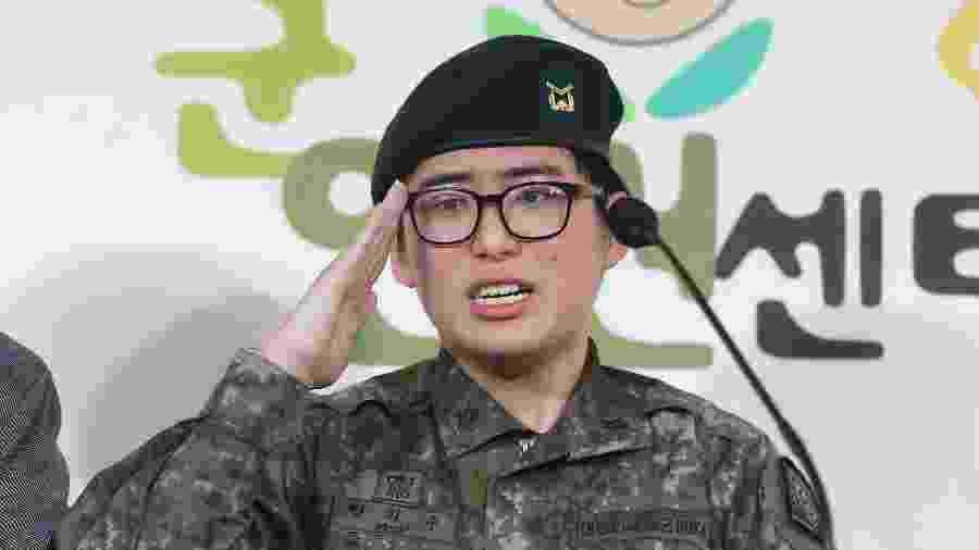 O sargento Byun Hee-soo, de 20 anos - AFP