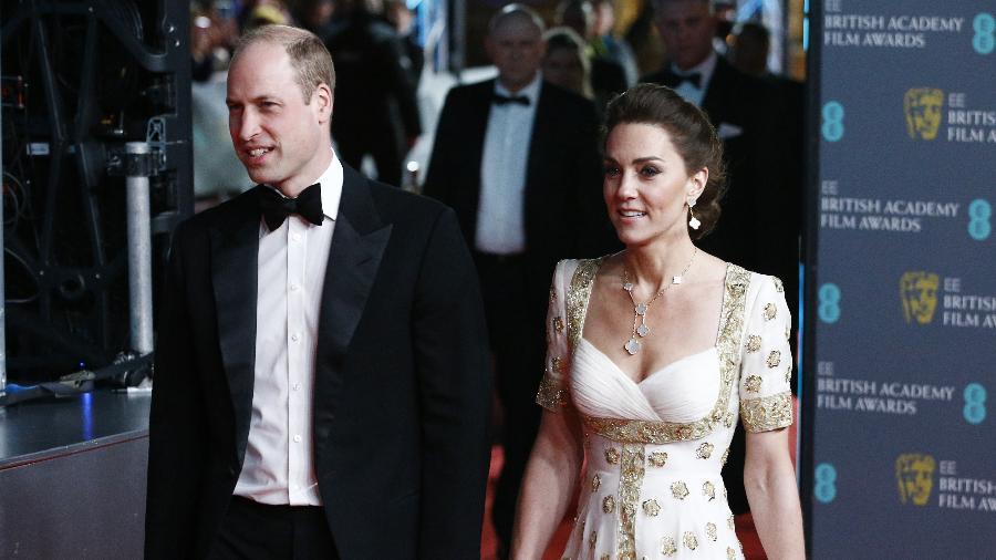 Príncipe William e Kate Middleton no tapete vermelho do Bafta 2020 - REUTERS/Henry Nicholls