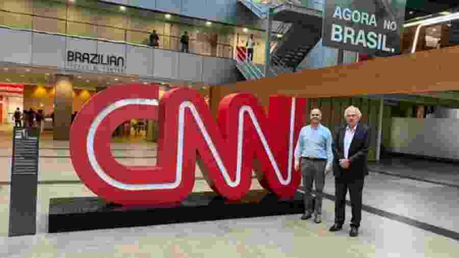 Dono da CNN Brasil visita instalações de canal em São Paulo - Reprodução/Twitter