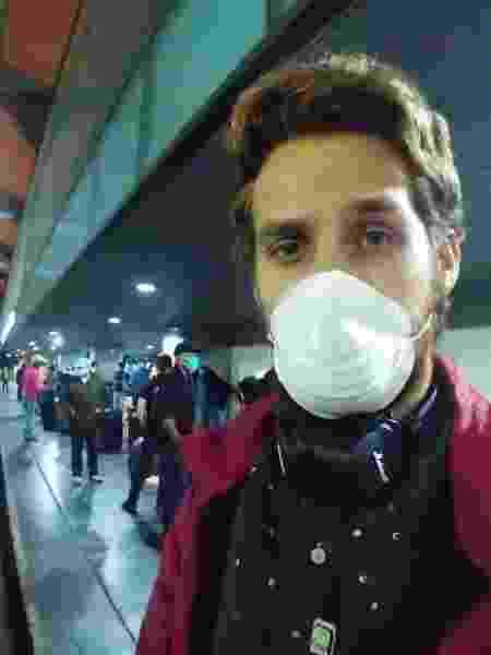 Fayson Merege no aeroporto da Guatemala - Arquivo pessoal - Arquivo pessoal