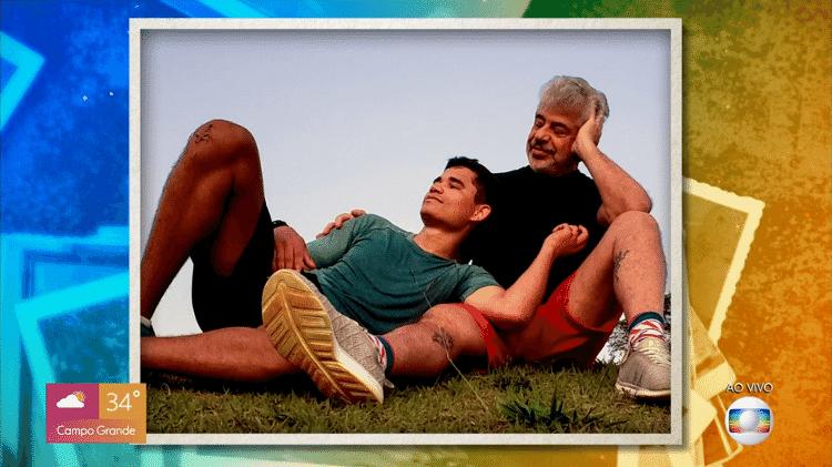 Clebson Teixeira e Lulu Santos em foto de 2018 - Reprodução/Globoplay - Reprodução/Globoplay