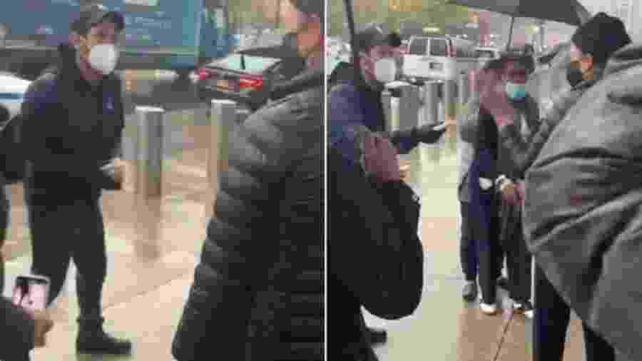 """Paul Rudd, ator que interpreta o """"Homem-Formiga"""", ofereceu cookies aos eleitores que estavam na fila para votar no Brooklyn - Reprodução/Twitter/@Bowl_of_Worcel"""