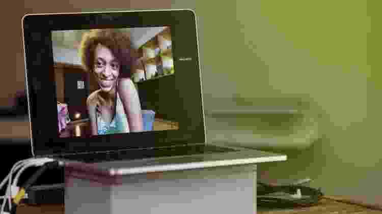 Erika Hilton durante o papo virtual com Fabi Gomes - Mariana Pekin/UOL - Mariana Pekin/UOL