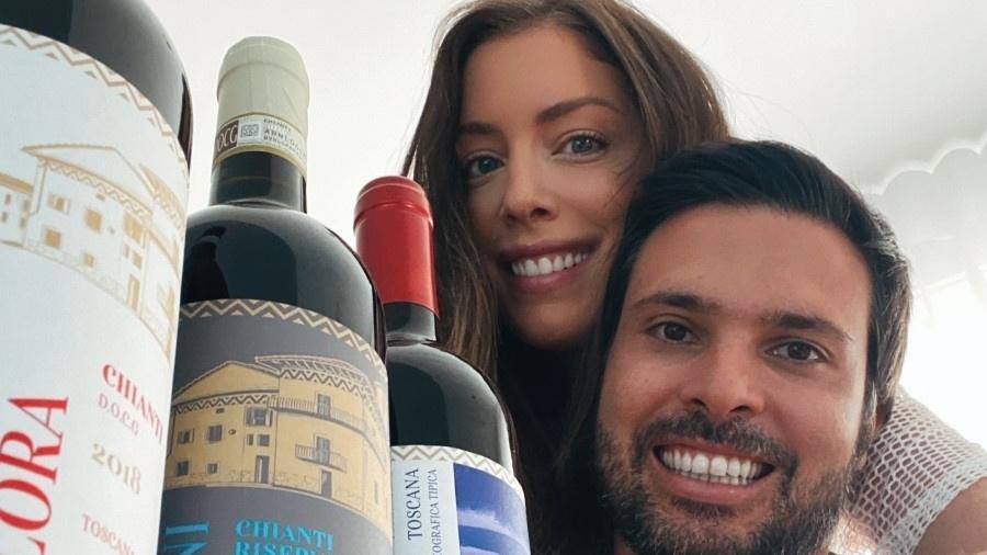 """Fabiana Justus, filha de Roberto Justus, lança vinho com o marido Bruno D""""Ancona - Divulgação"""