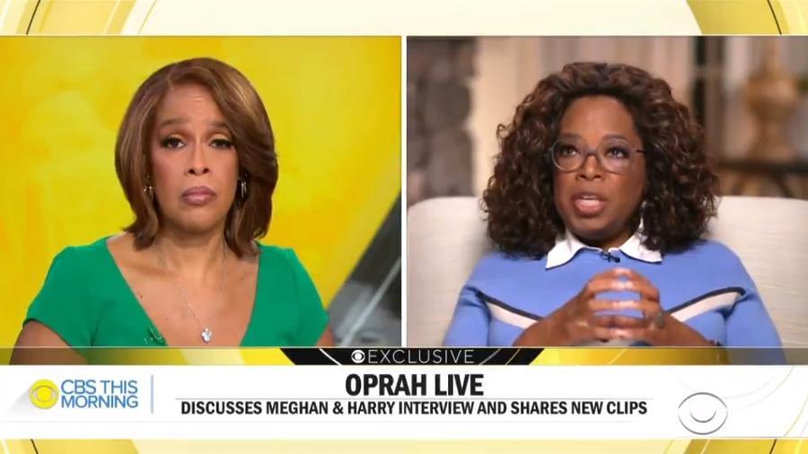 Oprah durante entrevista ao CBS This Morning - Reprodução/Twitter