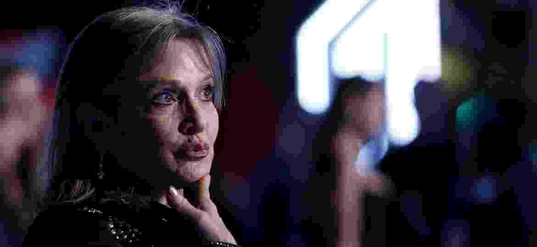 "Carrie Fisher na premiere de ""Star Wars: O Despertar da Força"", em 2015 - Mario Anzuoni/Reuters"