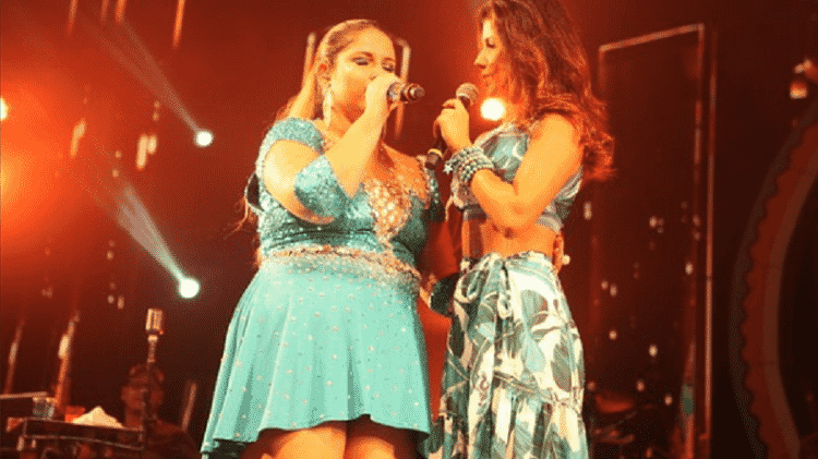 As sertanejas Marília Mendonça e Paula Fernandes também se apresentaram neste sábado - Reprodução/Instagram