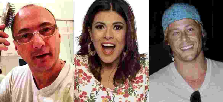 """Britto Jr, Mara Maravilha e Theo Becker: eles se deram mal durante ou após """"A Fazenda"""" - Fotomontagem/UOL"""