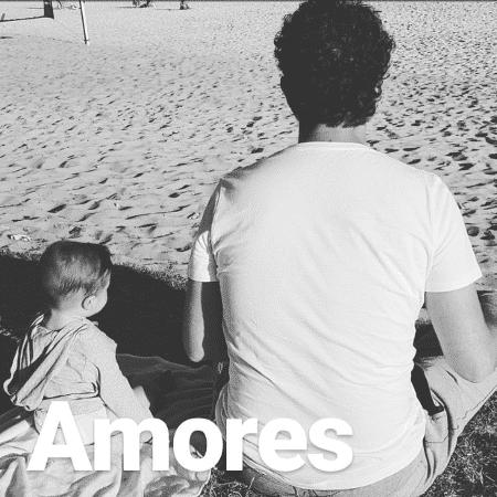 Felipe Andreoli com o filho, Rocco - Reprodução/Instagram/@rafabrites