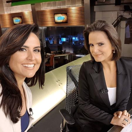 """Carla Cecato e Roberta Piza no """"Fala Brasil"""" - Reprodução/Instagram/carlacecato"""