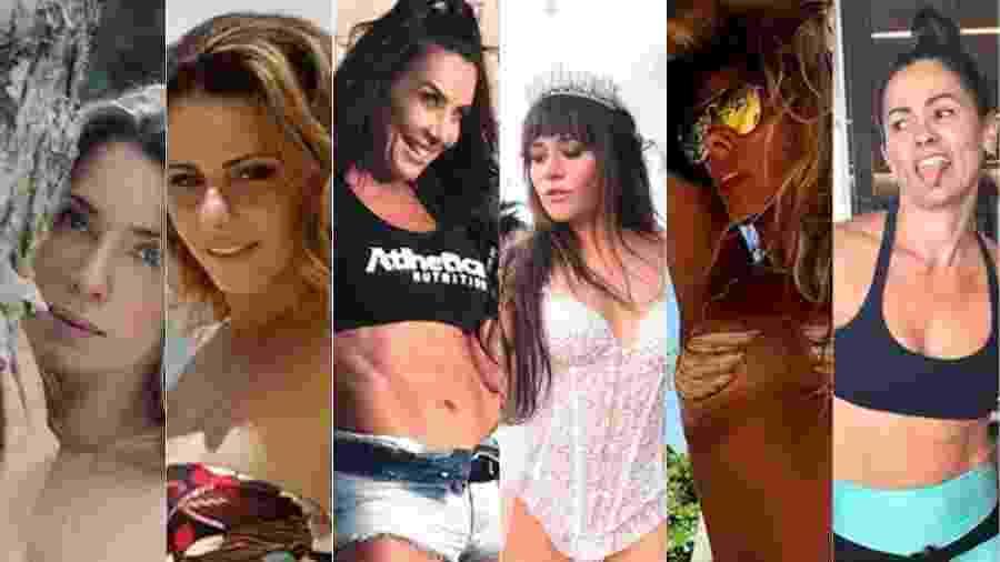 As nove musas dos anos 90 que ainda esbanjam corpão e sensualidade depois dos 40 anos de idade  - Reprodução/Montagem UOL