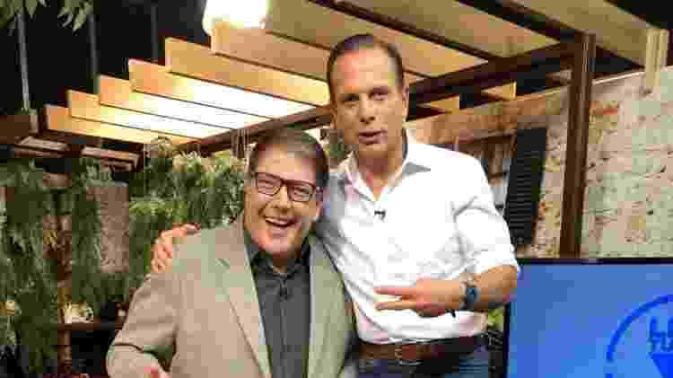João Doria e Luciano Faccioli na Rede Brasil de Televisão - Divulgação - Divulgação