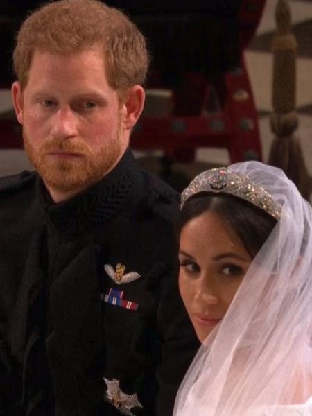 Príncipe Harry e Meghan Markle se casam - Reprodução/Globo