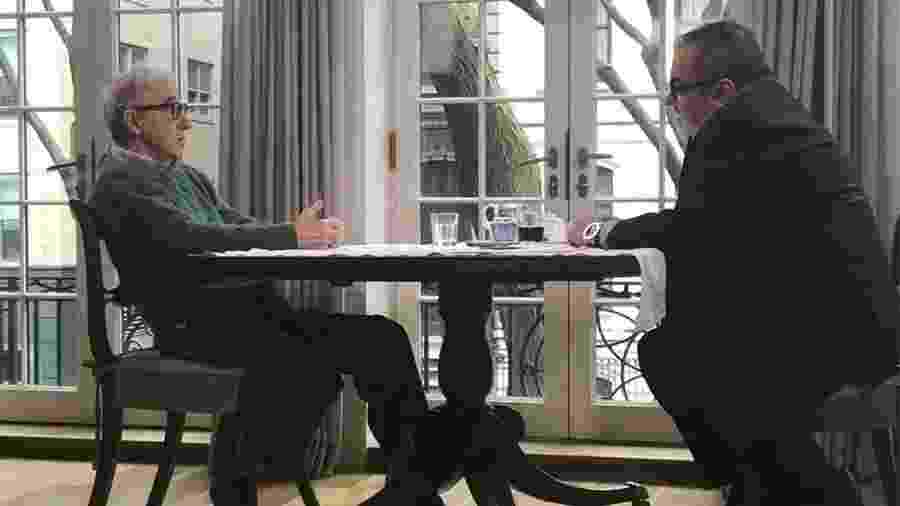Woody Allen em entrevista à TV argentina - Reprodução
