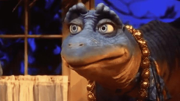 """A personagem Mônica Desvertebrada de """"Família Dinossauros"""" - Reprodução - Reprodução"""