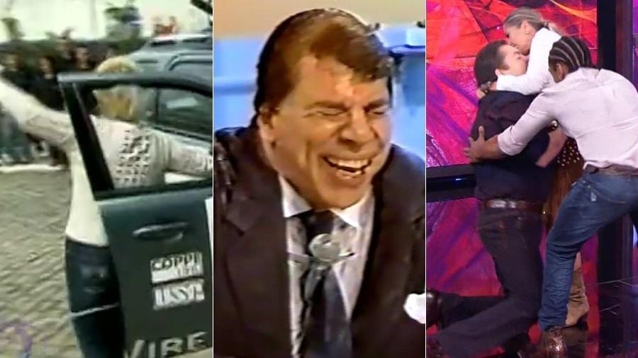 """Ana Maria Braga, Silvio Santos e Faustão já """"desmoronaram"""" na TV - Montagem/UOL/Reprodução/TV Globo/SBT"""