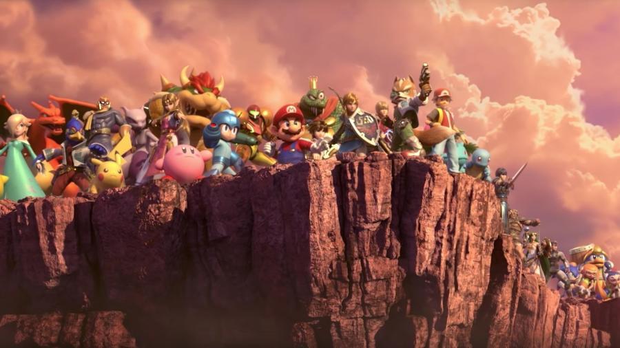 """""""Super Smash Bros. Ultimate"""" reúne mais de 60 personagens de toda a história da franquia. - Reprodução"""