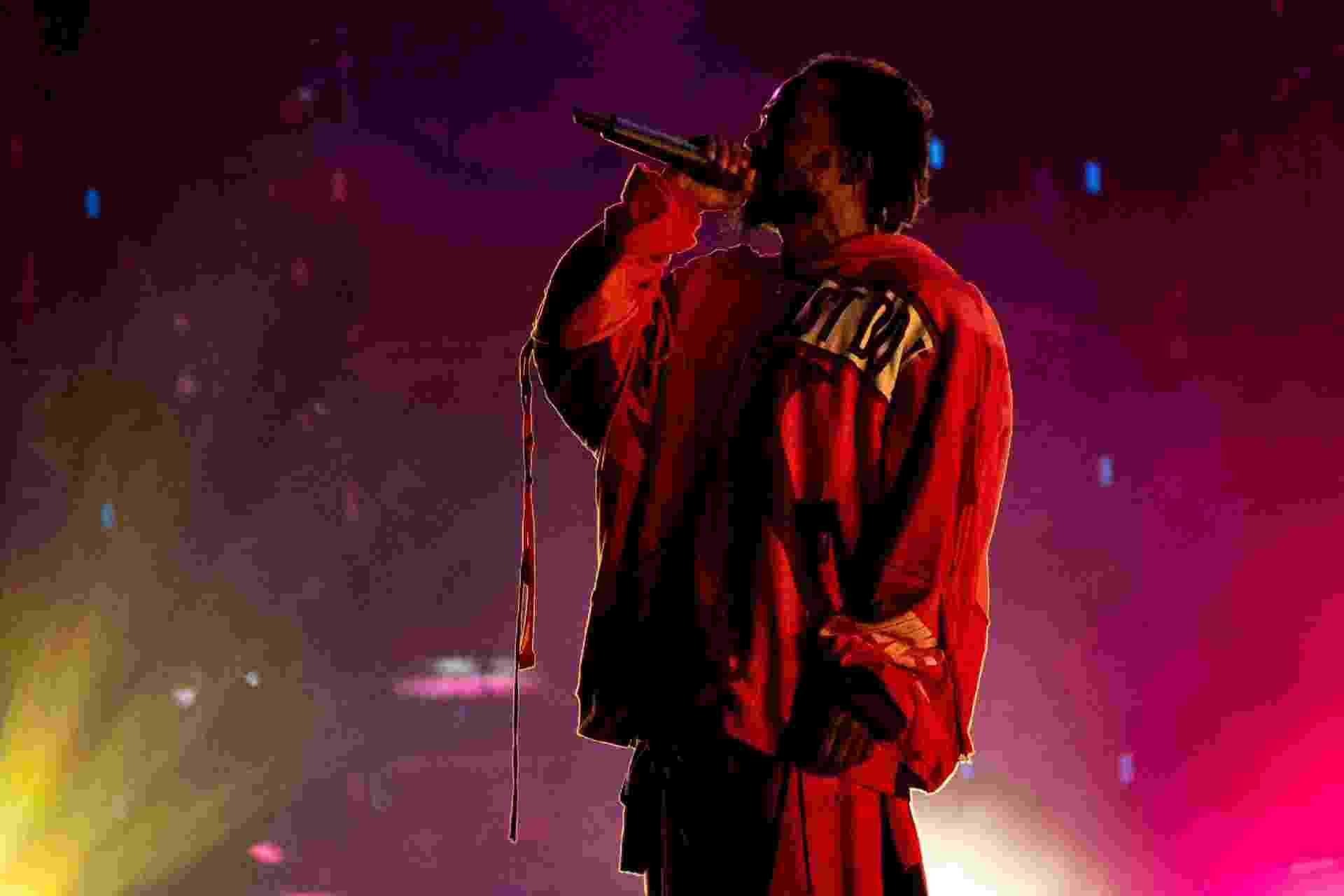 Kendrick Lamar se apresenta no Lollapalooza Brasil 2019, em São Paulo - Flávio Moraes/UOL