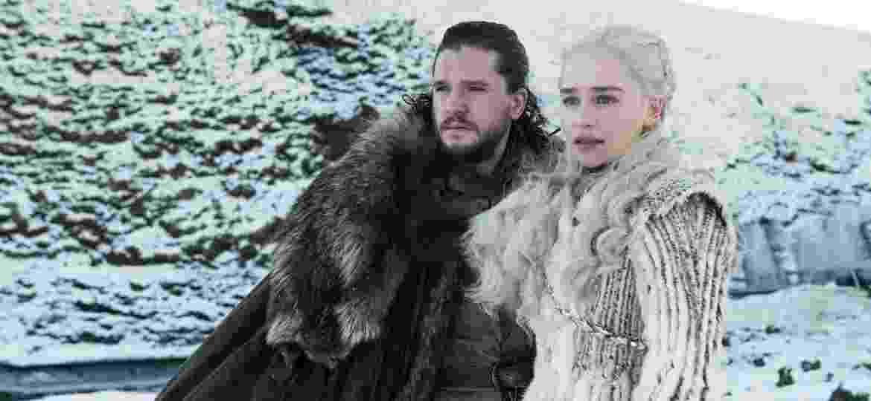 """Jon Snow e Daenerys Targaryen em cena de """"Game of Thrones"""" - Divulgação"""