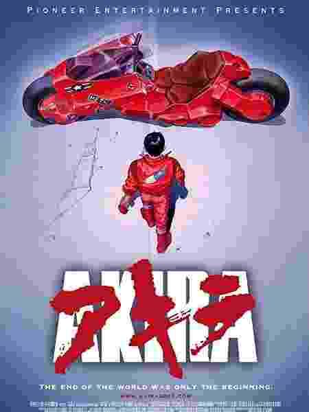 """O pôster original de """"Akira"""" (1988) - Divulgação/IMDb"""