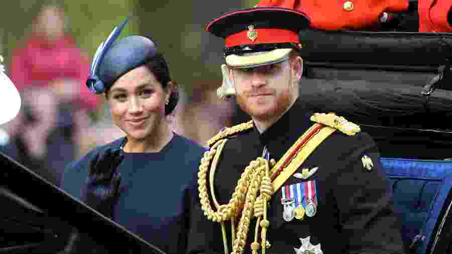 Meghan Markle e Príncipe Harry durante Trooping The Colour 2019 - Karwai Tang/WireImage