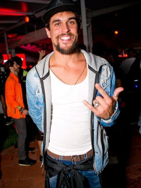 O ator Felipe Roque no Rock in Rio - Wanderson Monteiro