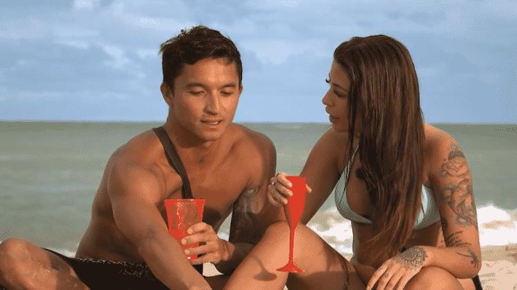 Flávio Nakagima com a ex, Gabi, no De Férias com o Ex - Divulgação/MTV Brasil - Divulgação/MTV Brasil
