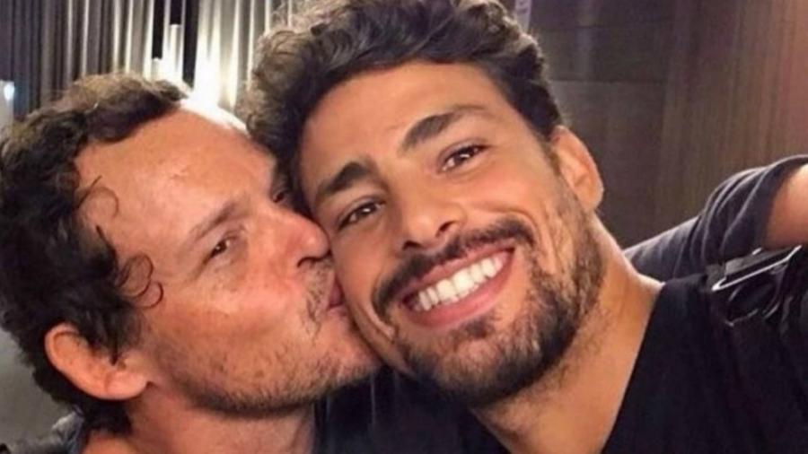 """Cauã Reymond e Matheus Nachtergaele na época das filmagens do filme """"Piedade"""" - reprodução/Instagram"""