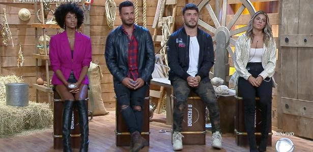 A Fazenda 2019   Rodrigo e Sabrina saem; Diego, Hari e Lucas estão na final