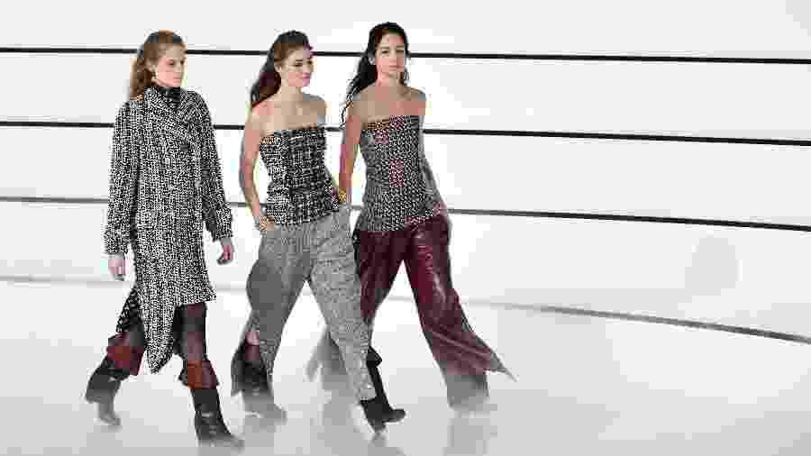 Desfile da Chanel durante a Semana de Moda de Paris - Christophe Archambault - 03.mar.2020/ AFP