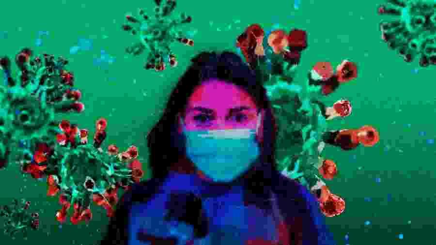 Usar máscaras ao sair de casa, evitar o contato físico e lavar bem as mãos são cuidados importantes para se proteger do coronavírus - Arte/UOL