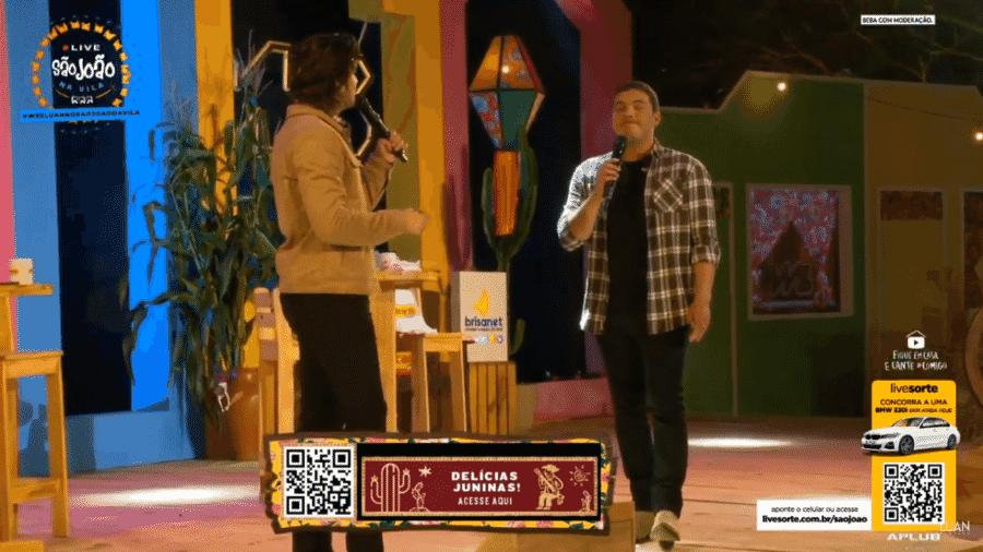 Luan Santana e Wesley Safadão comandam live de São João em Campina Grande - YouTube / Reprodução