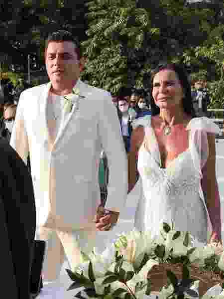 Gretchen e Esdras, casamento há cinco meses é o 18º da cantora.  - MARCOS RIBAS/BRAZIL NEWS - MARCOS RIBAS/BRAZIL NEWS