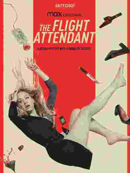 """Kaley Cuoco no pôster de """"The Flight Attendant"""", nova série da HBO Max - Reprodução"""