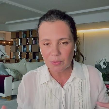 Adriana Esteves é entrevistada no Conversa com Bial - Reprodução/Vídeo