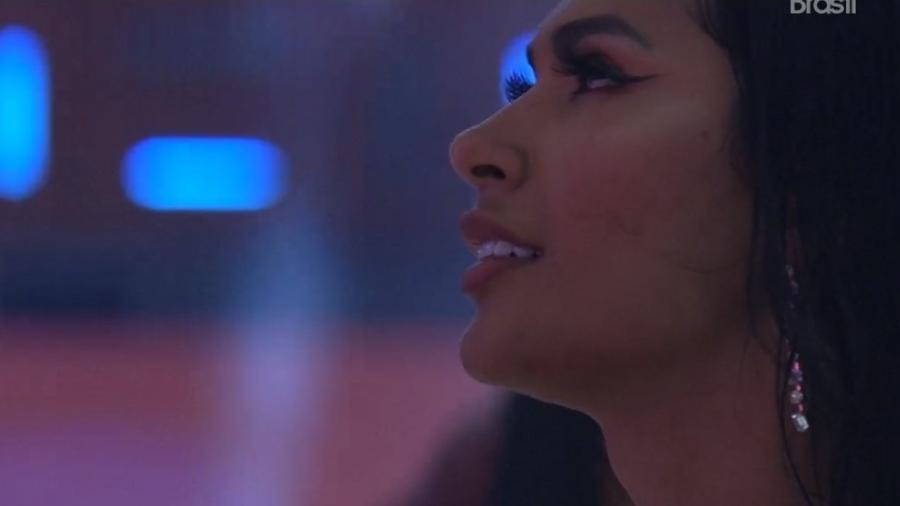 BBB 21: Pocah se emociona com shows na festa - Reprodução/ Globoplay