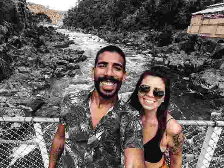 Juliana Sanches Pereira e o marido na Tasmânia - Arquivo pessoal - Arquivo pessoal