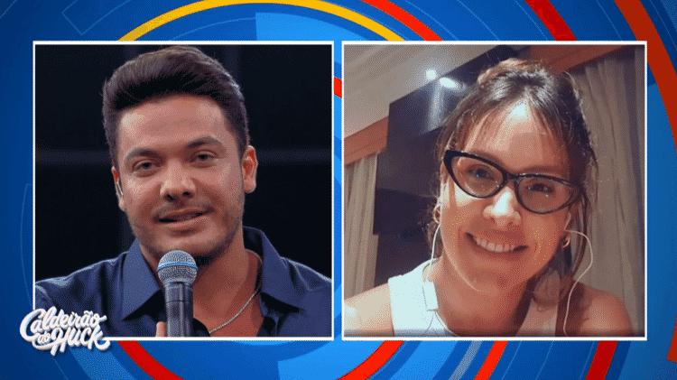 Wesley Safadão faz homenagem para a mulher em participação no 'Caldeirão do Huck' - Reprodução/TV Globo - Reprodução/TV Globo