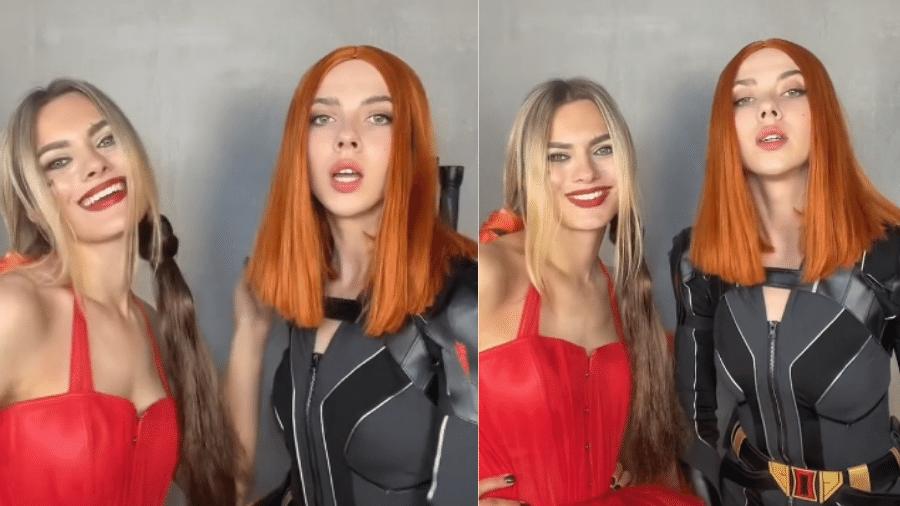 Sósias de Scarlett Johansson e de Margot Robbie se juntam no TikTok - Reprodução/TikTok