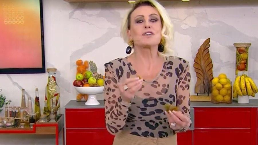 """Ana Maria Braga ensinou receita de bolinho """"encaralhado"""" no """"Mais Você"""" - Reprodução/TV Globo"""