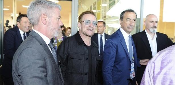 6.set.2015- Bono Vox visita a Expo Milão 2015 - Flávio Lo Scalzo/EFE