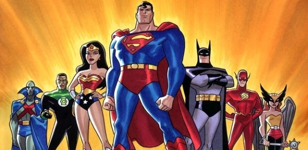 """Super-heróis de """"Liga da Justiça"""", que terá nova série animada - Reprodução/Warner"""