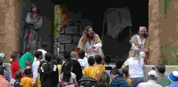 Encenações teatrais são uma das principais apostas da Holy Land para recriar passagens da vida de Jesus Cristo - Cortesia de Holy Land Experience - Cortesia de Holy Land Experience