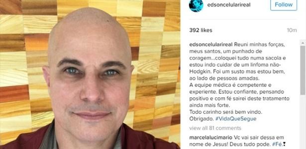 """""""Foi um susto, mas estou bem, ao lado de pessoas amadas"""", escreveu Edson Celulari"""