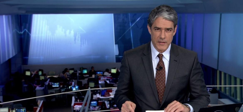 """William Bonner apresenta o """"JN""""; jornalismo da Globo é o preferido por quase 86% dos executivos - Reprodução/TV Globo"""